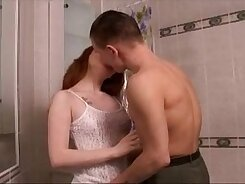 Chris wife redhead strokes older white dick on bed