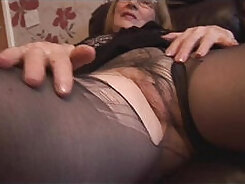 Blonde Busty Maid with Hairy pussy