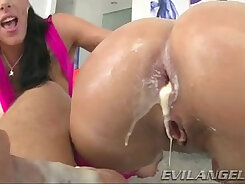 Big and butt men doing anal threesome