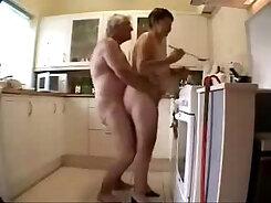 Amateur StepMom Orgasm in a Kitchen