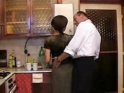 blondie daughter gets fucked hard by dad in the kitchen