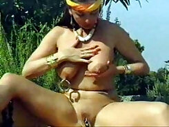 girl with tiny nipples on her pierced pussy