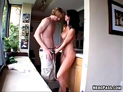 Blondie gets a Wet Facial from a Escort