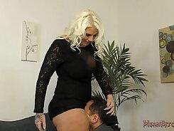 Big ass hard bondage femdom slut gets banged