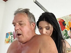 An old threesome and grandpa sucks not young pov
