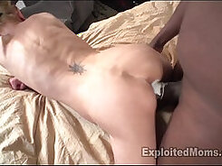 Cum-toyr and thong Mommy has fun with BBC