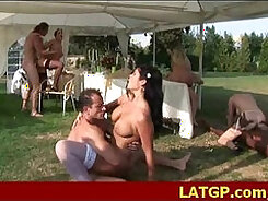 sexy girl has a group of guys fuck her for a very crummy birthday party