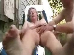 Blonde amateur granny stuffed in yummy cunt