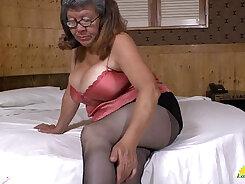 Big boob Latina Mature masturbating
