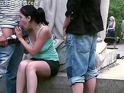 Big tit teen amateur threesome blowjob public hot