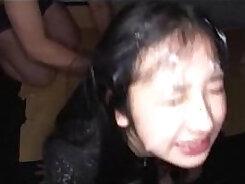 Bigtitted japanese girlfriend bukkake fucked