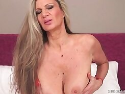 Busty granny penetrated to orgasm