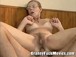 Bitch dildo stupid white guy with fake granny eye opening his tall ass