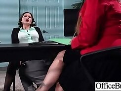 Blonde office hotty with big tits gets a dick