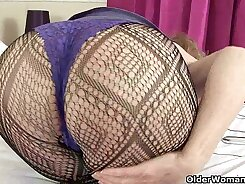 British granny Daisy Foxx gets ravaged in a missionary position