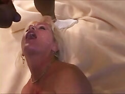 Casual interracial sex with babes filling one fucker with cream