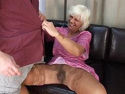 Cheerleader mature granny wanna her hairy snatch polished hard