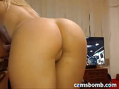 Bald headed guy ass fucking pussy on cam