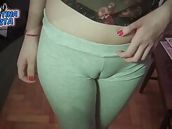 Blond teen gets shagged and cameltoe on the couch Do As I go