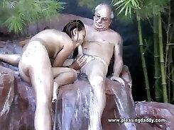 Asian slut has unforgettable pleasure taking cock