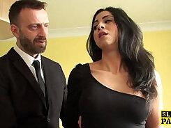 British slut Henessy gets fucked deep in the garden by the spicy Damon