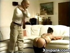 Busty milf cocksucking after spanking