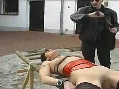 Catfight porn bdsm German maid deep throating man