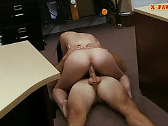 Chubby latina with big round tits sucks and fucks for the money