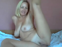 Blonde girl with ugly face getting fucked by mature MAN