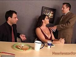 Ballbuster slut Alison Tyler gets her huge floppy tits enjoyed