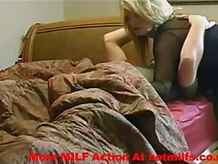 Big tits MILF in action with her son