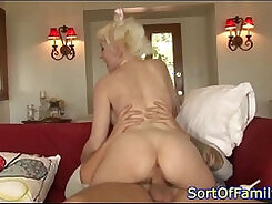 Charming mom Remy Monroe gets her pussy and anal tunnel fucked hard