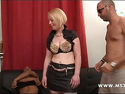 Andres Hood Gangbanged by Hot Brunnies