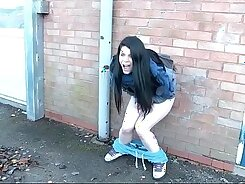 Blonde actress pissing in public video contest