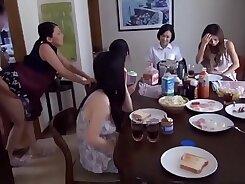 Charming Japanese stepmom Junna Aida nibbling on a tasty ramrod