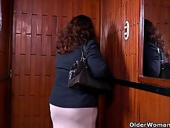 MILF Pantyhose Couple at The Office