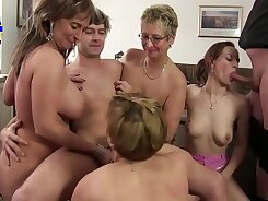 Aussie Family First Load of Face Jizz