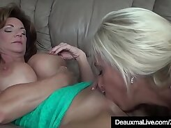 Mind blowing milf with strong cougar pussy fucks both horny