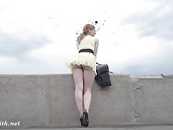 Caught with soap upskirt in public. Pokes up my GF