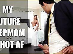 Horny MILF deepthroats her step son