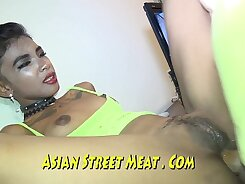 Asian Chick With Horse Tattoos Rides And Sucks And Does Anal