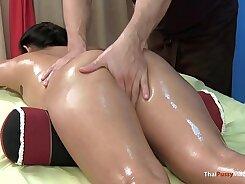 Asian girl fucked hard during massage