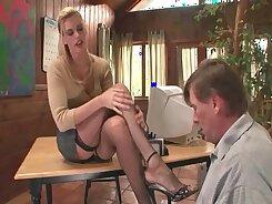 Barebaked loving wifegirl gets a foot fetish during bachelorette