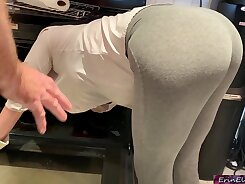 Cocksucking stepmom drilled from behind